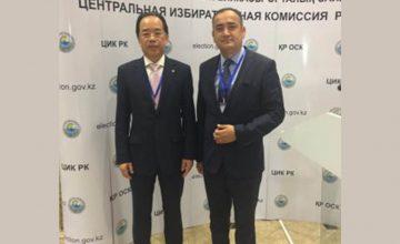 Prof Dr. Salih Yılmaz, Şanghay İşbirliği Örgütü Genel Sekreter Yardımcısı Wang Kaiwen ile Astana'da görüştü.