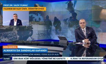 Prof. Dr. Salih Yılmaz, TVNET 19.00 Bülteninde