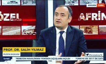 Rusen Başkanı Prof. Dr. Salih Yılmaz, Bugün Saat 21.00'da TVNET Net Bakış Programına Konuk Oluyor