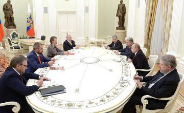 RUSEN[HABER] : Rusya Devlet Başkanı Vladimir Putin, seçim sonrası diğer devlet başkanı adaylarını Kremlin'de ağırladı.