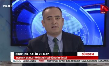 Prof. Dr. Salih Yılmaz, 8 Nisan pazar günü saat 12.15'te ÜLKE TV'de İnce Fikir programına konuk oluyor