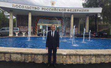 RUSEN Başkanı Prof. Dr. Salih Yılmaz, 9 Mayıs Rus Zafer Günü kutlamalarına katıldı