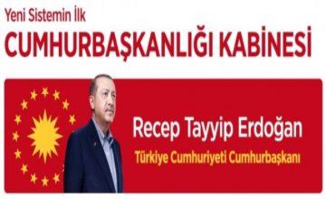 RUSEN[HABER]: Cumhurbaşkanı Recep Tayyip Erdoğan, yeni bakanlar kabinesini açıkladı.