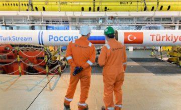 RUSEN[HABER]: Türk Akım doğalgaz boru hattı projesinin deniz bölümü inşaatının yüzde 95'i tamamlandı