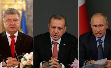 Cumhurbaşkanı Recep Tayyip Erdoğan, Putin ve  Poroşenko ile görüştü