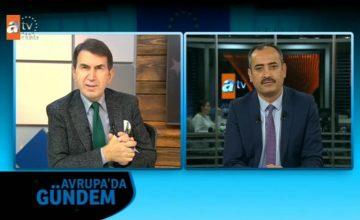 Prof. Dr. Salih Yılmaz, 13 Ocak Pazar günü saat 11.30'da ATV Avrupa kanalı Avrupa'da Gündem programına konuk oluyor