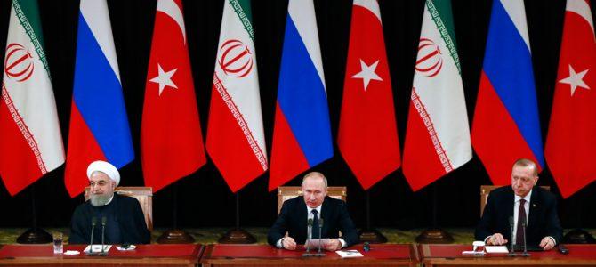 Soçi'de gerçekleştirilen üçlü  liderler zirvesinin Rus basınına yansıması