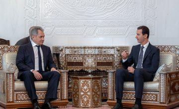 Rusya Savunma Bakanı Sergey Şoygu, Suriye'de Esed ile görüştü