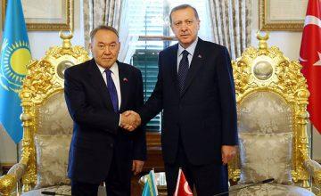 Cumhurbaşkanı Erdoğan ile Nazarbayev görüştü