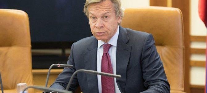 """Rus senatör Aleksey Puşkov : """"ABD Kuzey Akımı-2 projesine yaptırım uygularsa, tuzağa düşme riskini alıyor"""""""