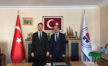 İngiltere'nin Ankara Büyükelçiliği Müsteşarı James Ford Rusen'i ziyaret etti