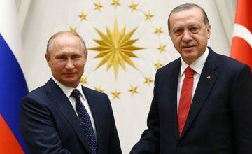 Cumhurbaşkanı Erdoğan, Rusya Federasyonu Devlet Başkanı Putin ile telefonla görüştü
