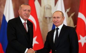 Türkiye Cumhurbaşkanı Erdoğan, Rusya Devlet Başkanı Putin ile telefonda görüştü