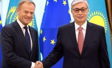 Avrupa Birliği (AB) Konseyi Başkanı Donald Tusk, Kazakistan'ı ziyaret etti