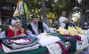 Antalyalı Tatarlar geleneksel hasat bayramı Sabantoy'u kutladı