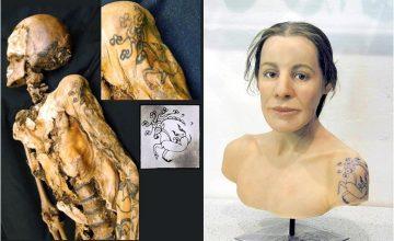 """Rusya Sibirya'da Türk-Altay """"Buz Kızı"""" olarak bilinen en eski dövmeli insan olarak biliniyor"""