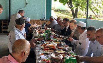 Rusya'da Ahıska Türkleri ile bayramlaşma