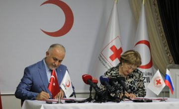 Türk Kızılayı ve Rus Kızılhaçı arasında iş birliği protokolü imzalandı