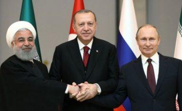 Erdoğan, Putin ve Ruhani ortak basın toplantısı düzenliyor