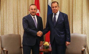 Mevlüt Çavuşoğlu, Sergey Lavrov ile görüştü