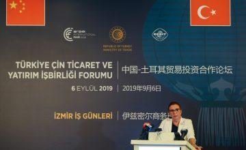 """Ruhsar Pekcan: """"Çin, Almanya ve Rusya'dan sonra en büyük ticaret ortağımız haline gelmiştir"""""""