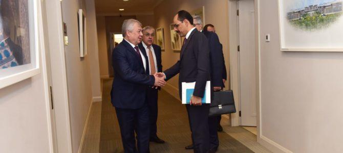 Cumhurbaşkanlığı Sözcüsü İbrahim Kalın, Lavrentyev ve beraberindeki heyeti kabul etti