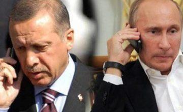 Recep Tayyip Erdoğan, Vladimir Putin ile telefonda görüştü